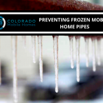frozen mobile home pipes